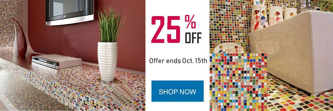 multi colored porcelain tile discount 25% off