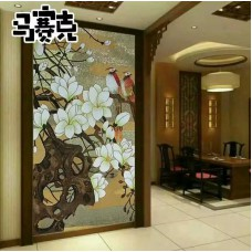 flower tile glass mosaic tile wall murals tiles backsplash plated crystal patterns NEW designs puzzle tiles GRST002