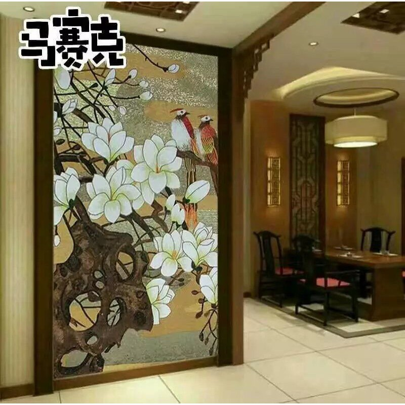 flower tile glass mosaic tile wall murals tiles backsplash plated
