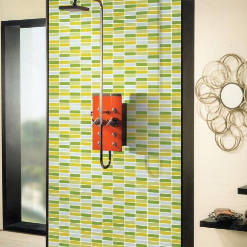 Glass Mosaic Tile strip Crystal Backsplash liner Wall Tiles Mosaic ...