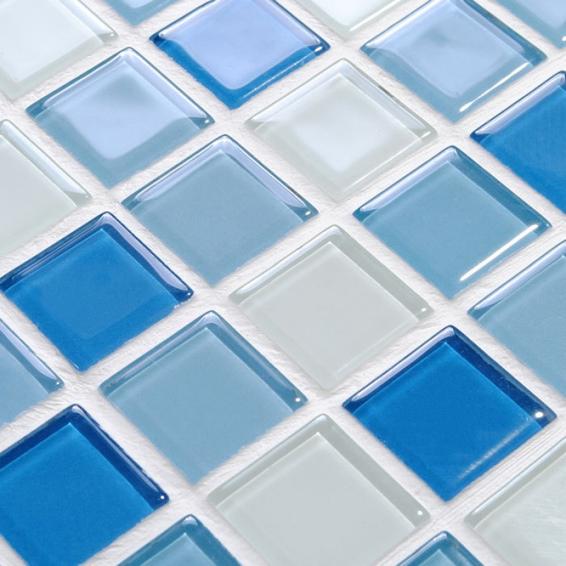 Crystal Glass Mosaic Tile Wall Stickers Kitchen Backsplash Tile ...