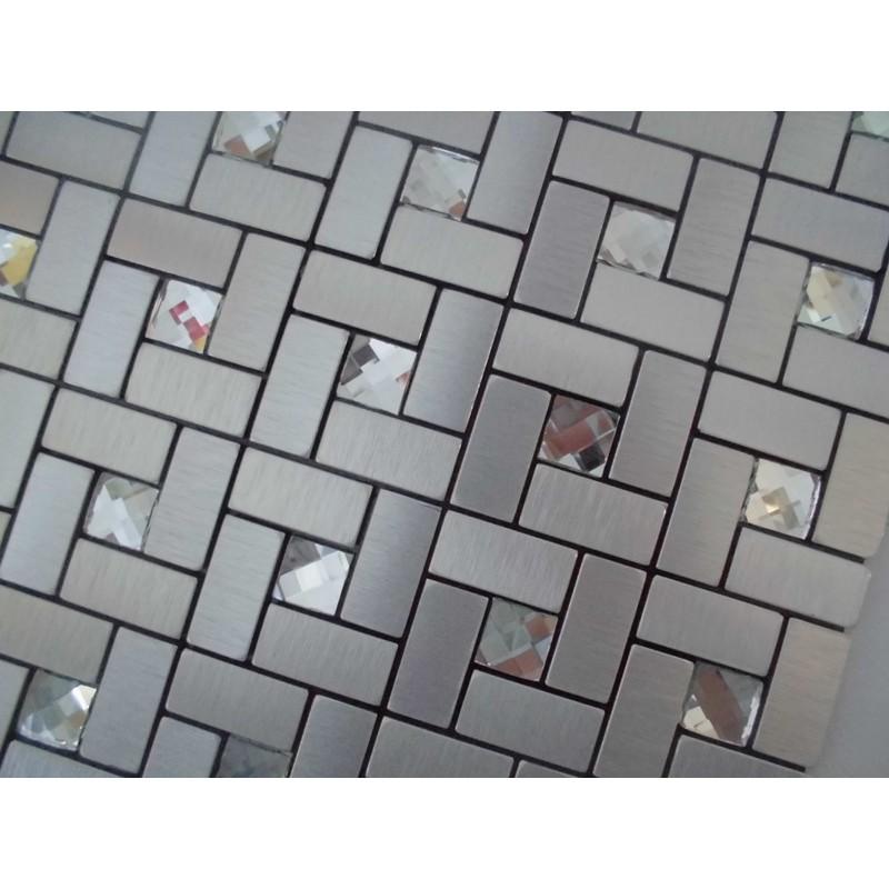 Peel and stick mosaic tiles diamond glass tile backsplash for Peel and stick tile for kitchen backsplash