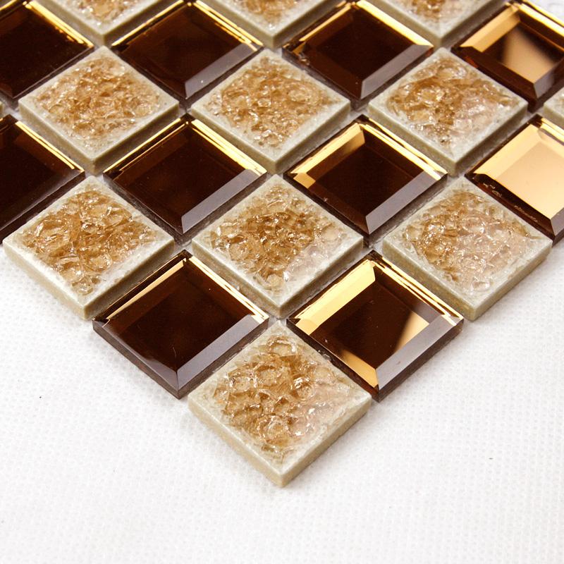 brown glass mosaic mirror tiles backsplash designs bathroom pyramid