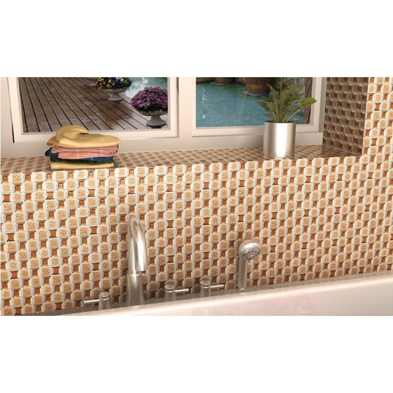 ... Brown Glass Mosaic Mirror Tiles Backsplash Designs Bathroom Pyramid  Patterns Mirrored Mosaic Tile Sheets MGT1802 ...