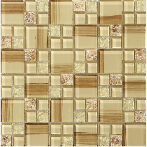 Crackle Glass Tile Hand Paint Cystal Glass Resin With