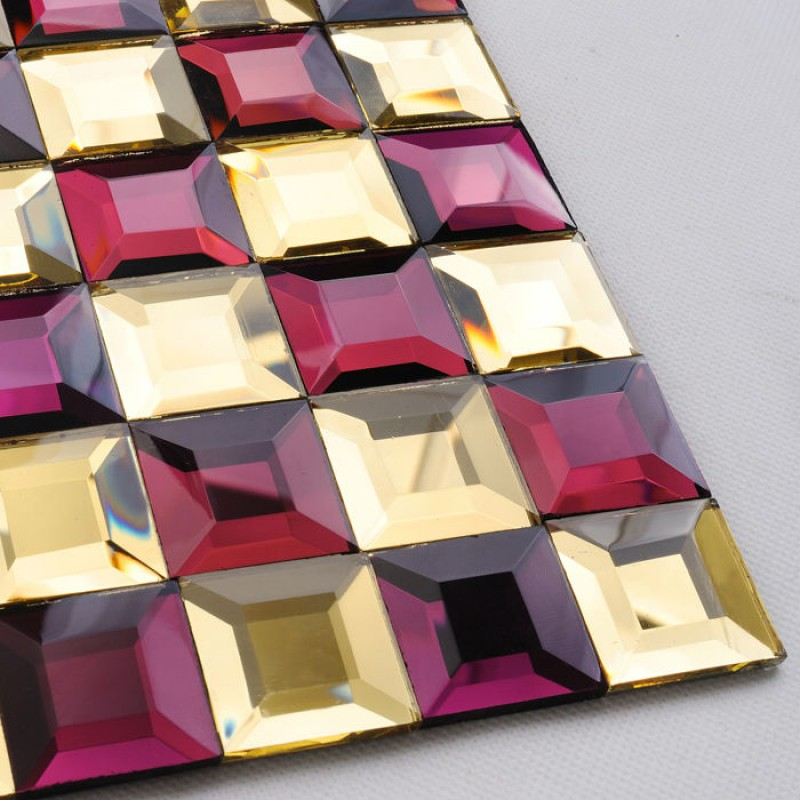 Purple Tile Backsplash Glass Mosaic Art Kitchen Tiles: Glass Mosaic Tile Kitchen Backsplash Purple & Gold Mirror