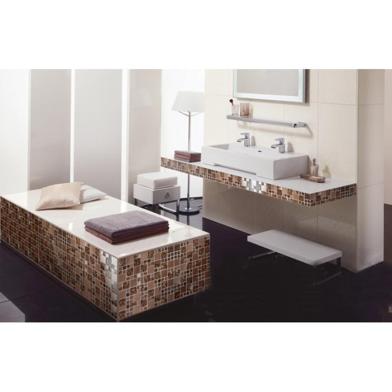 ... Gold Stainless Steel U0026 Glass Blend Mosaic Tile Sheet Crystal Glass  Patterns Metal Backsplash Wall Tiles