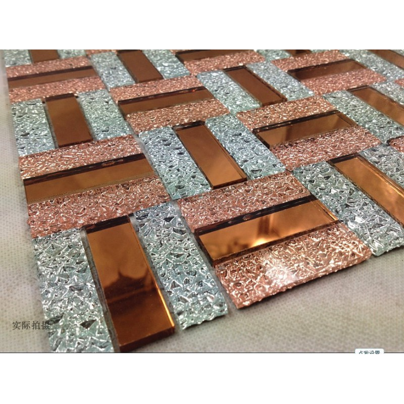 Glass Mosaic Tile Backsplash Purple And Gold Mix Mirror Wall Tiles Kitchen  Design Crystal Bathroom Floor Tile ...