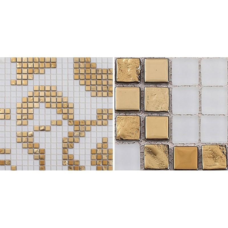 Golden glass mosaic tiles pattern for wall decorative for Fancy bathroom wall tiles