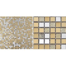 Iridescent Glass Mosaic Tile Backsplash Mesh Mounted Metal Coating Tiles Bathroom Wall Crystal Tile Kitchen Floor Sticker 2202