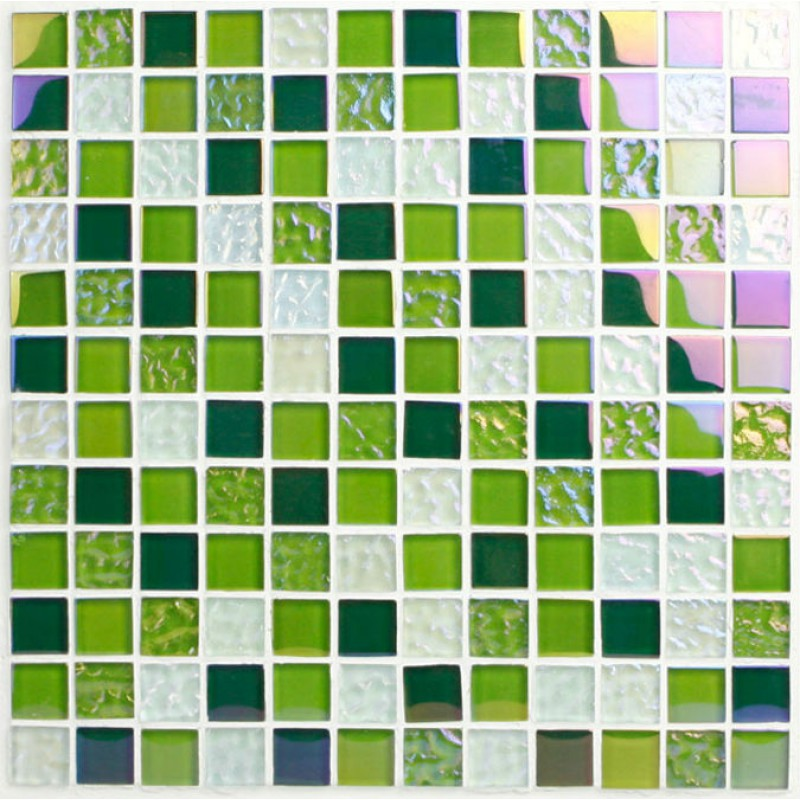 ... Green Glass Mosaic Tiles Sheet Crystal Glass Tile Backsplash 2219  Iridescent Tile Bathroom Wall Stickers Mosaic ...