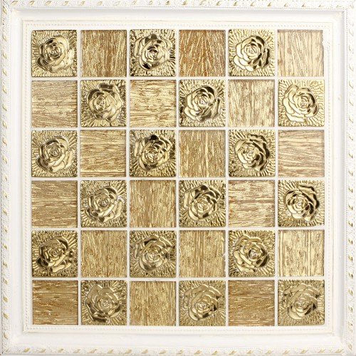 Metallic Mosaic Tile gold Stainless Steel Tile flower patterns Crystal Backsplash Wall brick Tiles Metal mix Glass Mosaics 2342