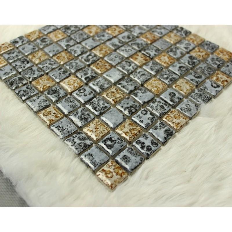 Mosaic Wall Decor mix color free-shipping porcelain tile mosaic glazed ceramic