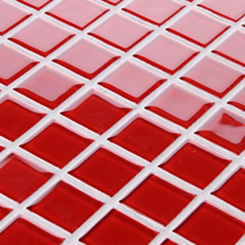 Red Floor Tiles Kitchen: Red Glass Backsplash Tile Kitchen Mosaic Art Designs 3019