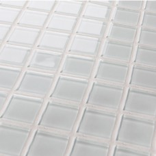 Crystal Glass Mosaic Sheet  Tile Wall Kitchen Backsplash Tile White Floor Stickers Design Bathroom Shower Pool Tile 3020