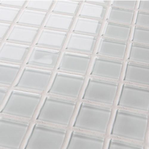 Crystal Glass Mosaic Sheet  Tile Wall Kitchen Backsplash Tile White Floor Stickers Design Bathroom Shower Pool Tile 3020