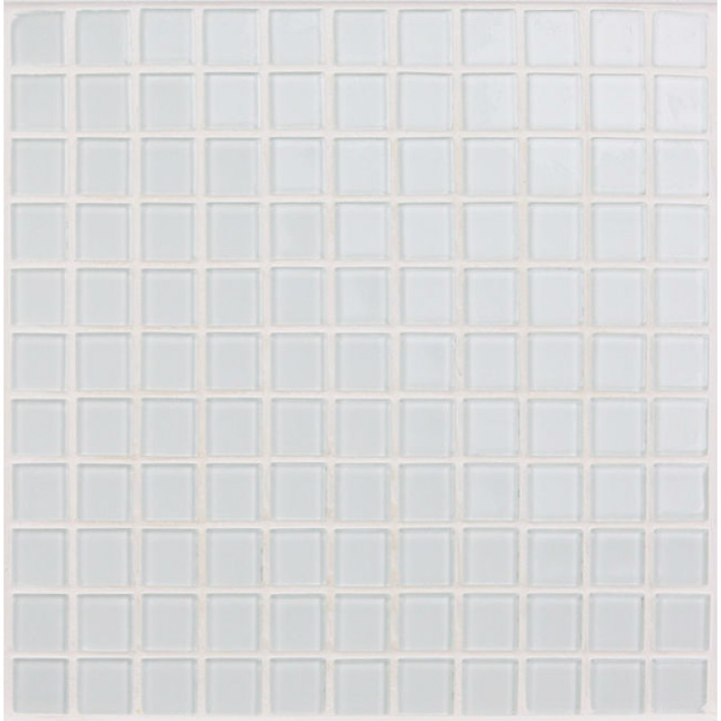 White Kitchen Mosaic Tiles: Crystal Glass Mosaic Sheet Tile Wall Kitchen Backsplash
