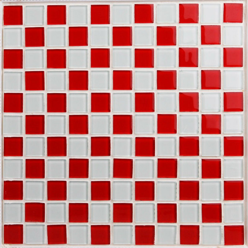 Red Glass Backsplash Tile Kitchen Mosaic Designs 3031 White Crystal Glass Bathroom Wall Tiles Liner Floor Tiles