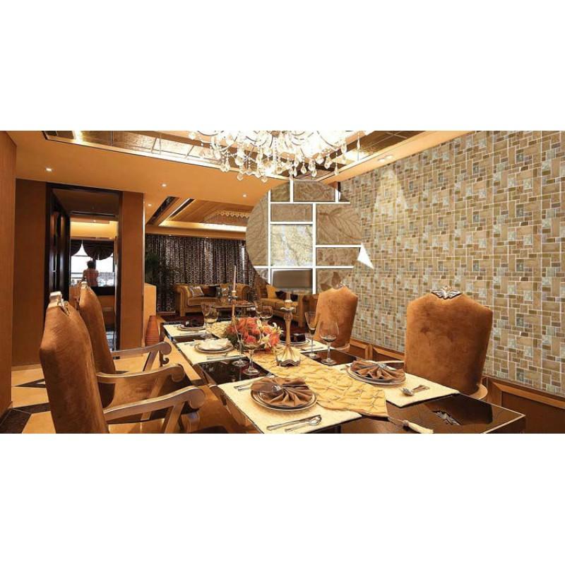Ceramic Tile Apartment Design: Porcelain Mosaic Decorative Tile Glass Backsplash Kitchen