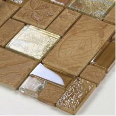 Porcelain Mosaic decorative Tile Glass Backsplash kitchen mosaic Ceramic Tiles Crystal Glass designs Bath Wall art mosaics 326