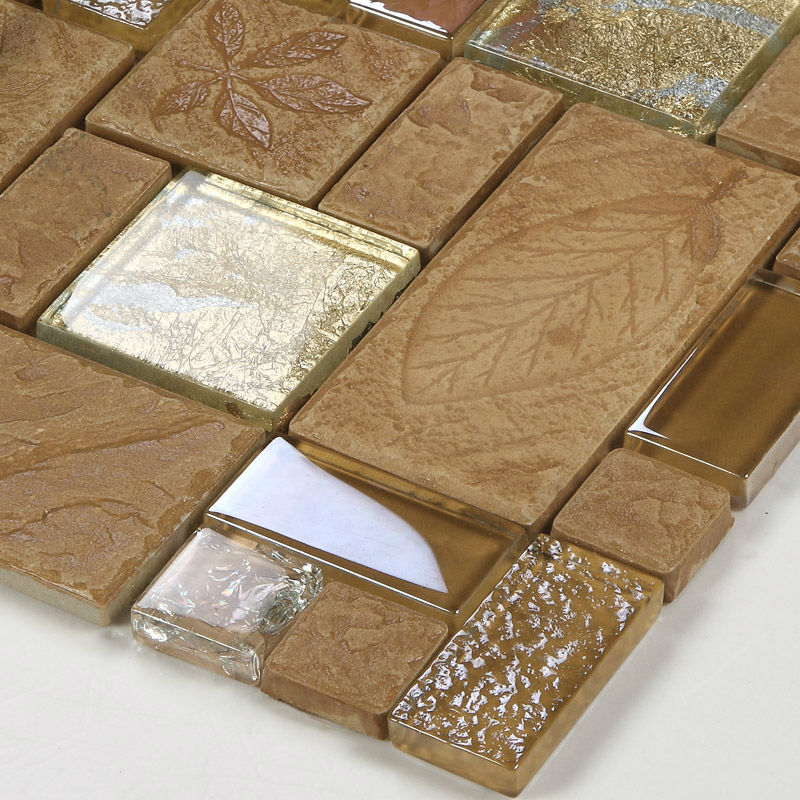 Porcelain Mosaic Decorative Tile Glass Backsplash Kitchen Mosaic Ceramic Tiles Crystal Glass