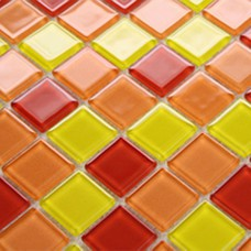 Glass mosaic backsplash tile Stained glass tiles 3303 swimming pool mosaic red bathroom wall tile Kitchen backsplash floor tiles
