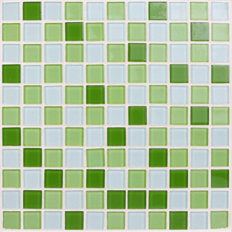 glass tile green white blend Glass mosaic tiles for swimming