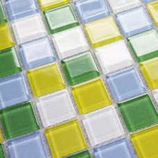 Glass Mosaic Tiles Bathroom Wall stickers mix colors Crystal Glass Tile Backsplash 3313 Kitchen Backsplashes Swimming Pool Tile