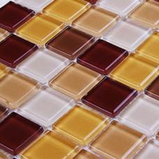 Crystal Glass Mosaic Tiles Wall stickers Kitchen Backsplash Tile cheap Bathroom Floor Tiles 3321 square Glass Tile Backsplash