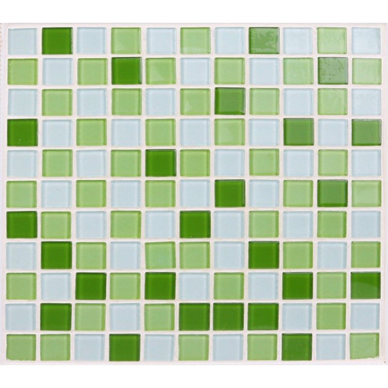 Green Glass Tile Bathroom: Glass Tile Backsplash Green Crystal Glass Mosaic Tiles