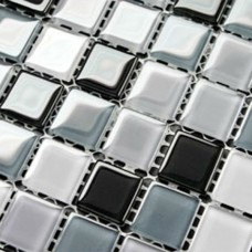 Crystal Glass Mosaic Sheet  Wall Stickers Kitchen Backsplash Tile Cheap Floor Stickers Design Bathroom Shower Pool plated 3339
