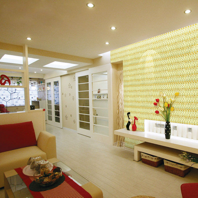 Weave Glass Mosaic Tiles Mirrored Wall Decoration Arched Crystal ...