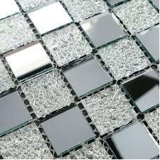 Crystal Glass Tiles Sheet Diamond Mosaic Art Wall Sticker Kitchen Backsplash Tile 4002 Design Bathroom Shower Floor Mirror Decor