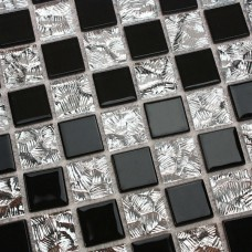 Black glass mosaic floor tile Mirror tile backsplash 4013 mosaic glass kitchen backsplash Crystal mosaic mirrored wall tiles