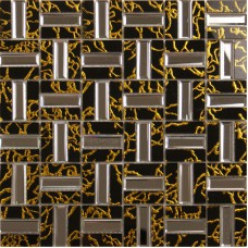 Crystal Mosaic Tile Sheets Golden Liner Wall Mirror Tile Backsplash Mirrored Glass Mosaics Strip Bathroom Tiles Mosaic Art 4027