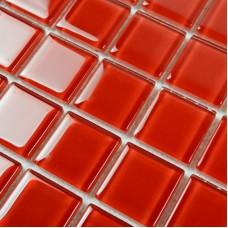 Red Glass Mosaic Tile Backsplash Crystal Glass Tiles Kitchen Wall Border Stickers Swimming Pool Tile Bathroom Floor Tiles 4028
