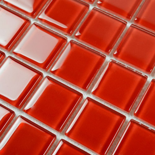 Red Glass Mosaic Tile Backsplash Crystal Glass Tiles Kitchen Wall Border Stickers Swimming Pool Tile Bathroom Floor Tiles 4028