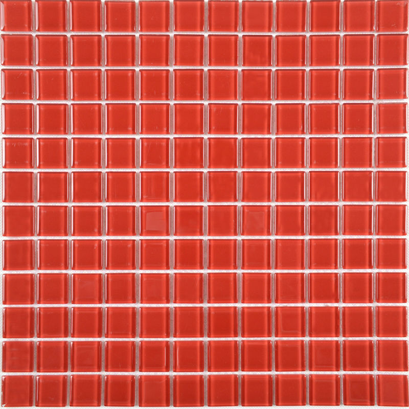 Red Glass Mosaic Tile Backsplash Crystal Glass Tiles Kitchen Wall Border Stickers Swimming Pool Tile Bathroom Floor