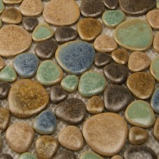 Porcelain pebble tile backsplash heart-shaped ceramic tile stickers kitchen and bathroom mosaic tiles 4789 shower wall tiles design