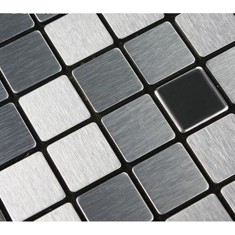 Metal Mosaic Tile Sheets Grey Metallic Kitchen Wall Tiles Kitchen  Backsplash Stickers Adhesive Tiles Stainless Steel Tile 6105