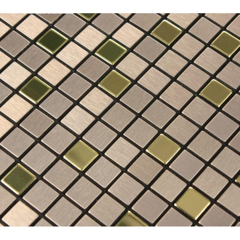 metal mosaic tile sheets gold metallic kitchen wall tiles. Black Bedroom Furniture Sets. Home Design Ideas