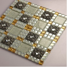 Crystal Glass Tiles Sheet Diamond Mosaic Art Wall Stickers Kitchen Backsplash Tile Design Bathroom Shower Floor Mirror Decor 611
