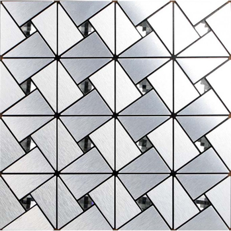 Silver Alucobond Tile Sheets Peel And Stick Wall Tiles