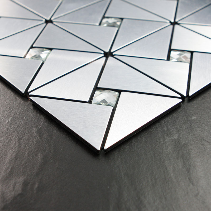 Silver alucobond tile sheets peel and stick wall tiles for Peel and stick wallpaper squares