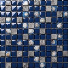 Glass Tile Backsplash Kitchen Shell Tile Design Crystal Glass & Stone Blend Mosaic Art Marble Wall Stickers Bathroom Floor Tiles