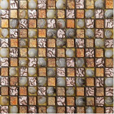 brown crystal glass mosaic tile FREE SHIPPING wall backsplashes resin with conch tile bathroom tiles plated glasses tiles SBLT617
