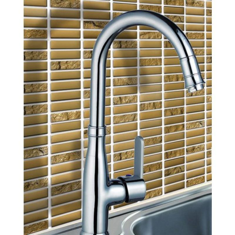 Lovely Crystal Glass Tile Backsplash Kitchen Strip Glass Mosaic Tile Sheets 631  Golden Mosaic Brick Tiles Bathroom Wall ... Part 30