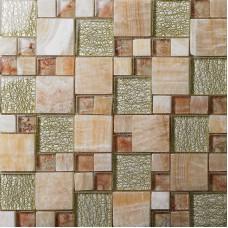 Glass Mosaic Wall Tiles natural Stone mixed Crystla Glass Tile Stone Mosaic Tile designs wallpaper tv backdrop Wall Stickers 637