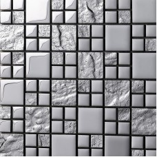 Glass Tile Backsplash silver Crystal Glass Mosaic Tiles Metal Coating Tile Kitchen Backsplash Wall Mosaics Bathroom Tiles 652