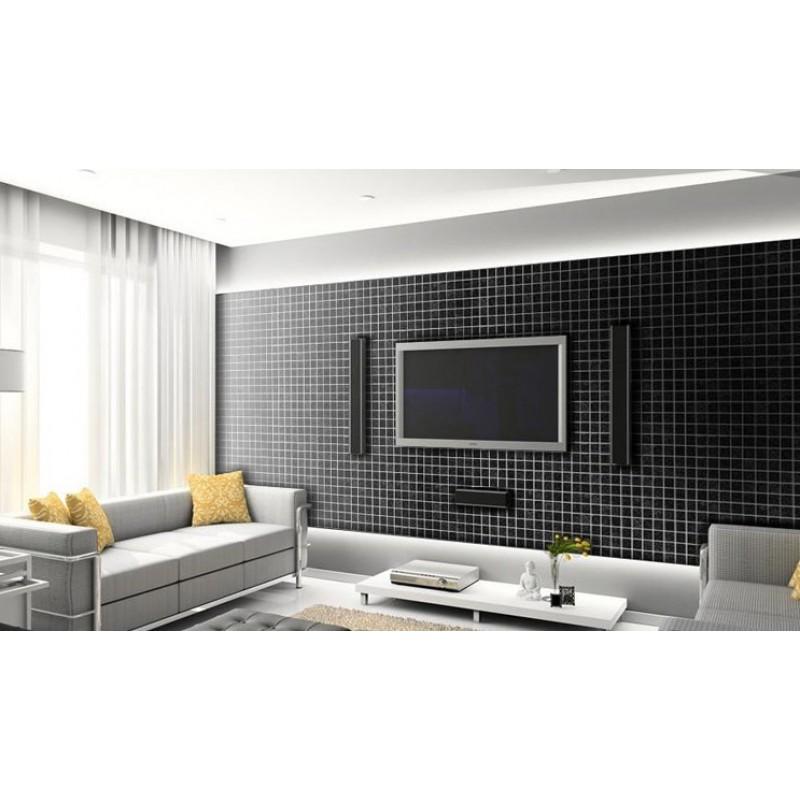 Glass Mosaic Wall Tiles Black Crystal Backsplash Kitchen